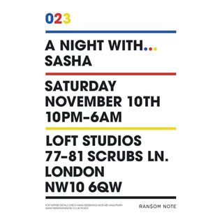 Sasha - Live at A Night With... Sasha, Loft Studios, London, UK (10-11-2012)