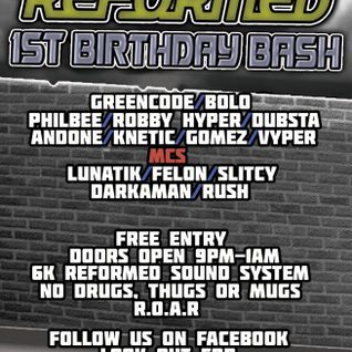 DJ Vyper - ReFormed 1st Birthday Promo Mix - October 2012