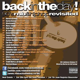 BackInTheDay! 90's Anthems Volume 23
