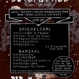 Stefan ZMK @ Outer Space 3.0 @ PIP The Hague 2014 [techno acid oldskool industrial hardcore rave]
