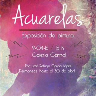 Umbral entrevista a Jose Refugio sobre la exposición Acuarelas programa transmitido el día 9 de Abri