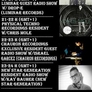 2016 01 12 22-23h (gmt+1) Chauron Recordings Exclusive Resident Guest Radio Show w/Garcez