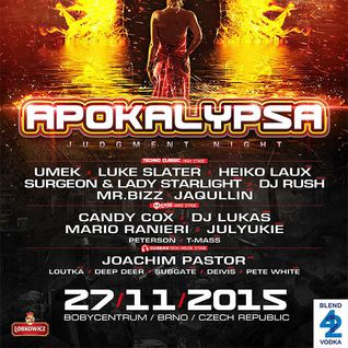 Mario Ranieri @ Apokalypsa 40 Judgement Night, Bobycentrum Brno, Czech Republic 27.11.2015