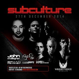Bryan Kearney - Live @ Subculture, The Wright Venue (Dublin) - 27.12.2014