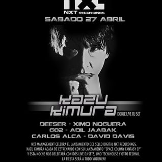 Kazu Kimura @ The Hall of We Are Smoking club - NXT recordings launch party Madrid 27Apr13-P1