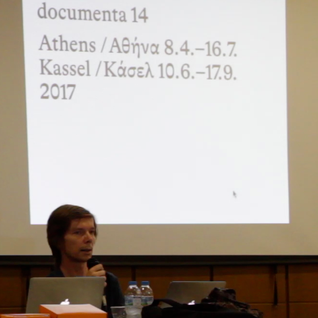 "Adam Szymczyk on documenta 14 ""learning from Athens (working title)"" @ Panteion, 02/06/16"