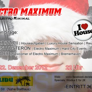 Dj Chrizz Pii live @ Electro Maximum 22.12.12