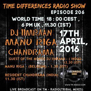 Manu Riga - Time Differences 206 (17th April 2016) on TM-Radio.