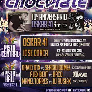 Alex Beat @ DISCOTECA CHOCOLATE || + Moraos + 10 Años Oskar 41 + Carnavales