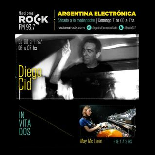 May Mc Laren @ Argentina Electronica (Diego Cid Spcl + Guest), at Nacional Rock FM | June 7th, 2015