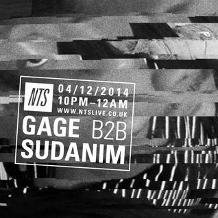 NTS Radio: Gage b2b Sudanim (04/12/14)