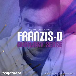 Franzis-D - Auditory Sense 078 @ InsomniaFm - Dec 10, 2015