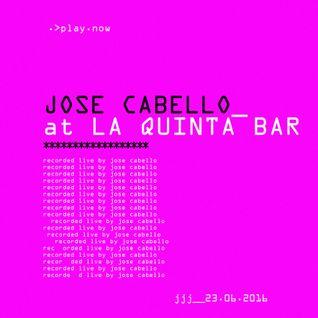 Jose Cabello (Live) @ La Quinta Bar (Caracas) 23062016