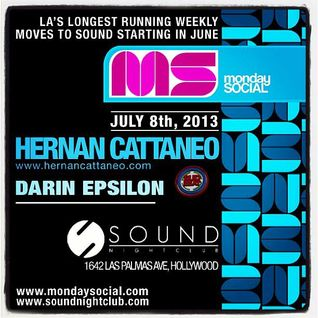 Live at Monday Social @ Sound Nightclub w/ Hernan Cattaneo [July 8 2013]