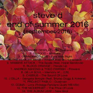 Steve D - End Of Summer 2016 (September 2016)