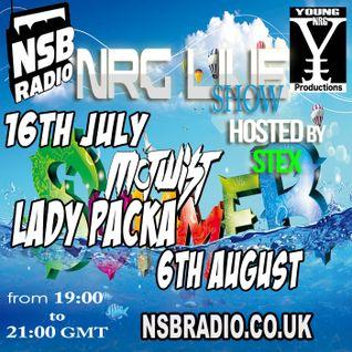 NSB Radio - NRG Live show - Stex djset - 16 july 15