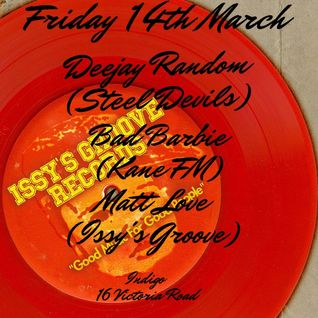 ISSY'S GROOVE PROMO SET. 14TH MARCH 2014, INDIGO, CHELMSFORD