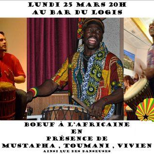 Boeuf à l'africaine avec Mustafa , Toumani et Vivien , le 25 Mars au Logis