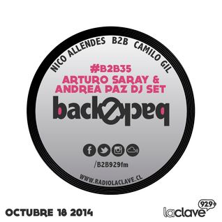#B2B35 - ARTURO SARAY B2B ANDREA PAZ - 18 OCTUBRE 2014