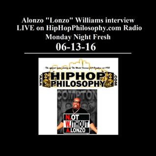 Alonzo Williams interview - 06-13-16 - HipHop Philosophy Radio