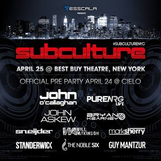 Will Atkinson – Live @ Subculture, Best Buy Theater New York, United States (25-04-2015) USA