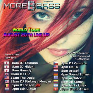 Mixcloud & Morebass present : Arespi @ World Tour august 20th 2016