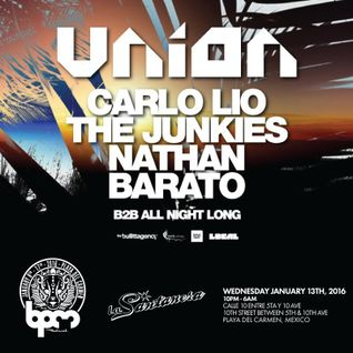 Carlo Lio, The Junkies, Nathan Barato - Live at Union, La Santanera, BPM Festival 2016 (13-01-2016)