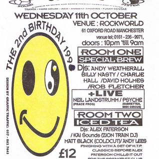 Neil Landstrumm live at Herbal Tea Party's 2nd birthday in Manchester 11 October 1995