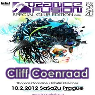 10.02.2012 - Cliff Coenraad Live @ Trancefusion Special Club Edition - SasaZu Prague