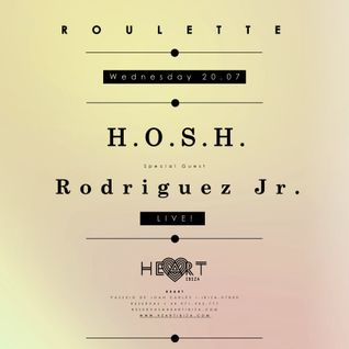 H.O.S.H. and Rodriguez Jr - Live at Roulette Opening, Heart Ibiza (20-07-2016)