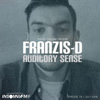 Franzis-D - Auditory Sense 073 @ InsomniaFm - Jul 09, 2015