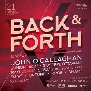 EUFORIA FESTIVAL pres. BACK & FORTH POZNAŃ HALA ARENA - DJ ALEX (2015-11-21)