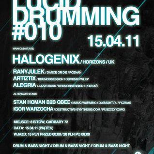 Lucid Drumming with Halogenix part 2