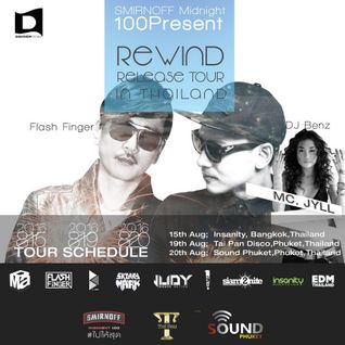 Flash Finger DJ Live @ Rewind Release Tour at Insanity (TH)  15th, Aug, 2016