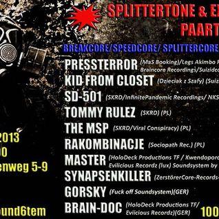 MasteR @ SplitterTone & ExtraCore Party @ Kili Berlin 070913-080913