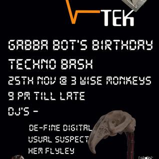 221116 techno mx for lab tek 25th nov gabba bots techno bash