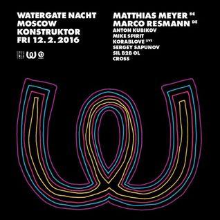 Marco Resmann - Live @ Watergate Nacht Moscow, Konstruktor Club - 12.02.2016