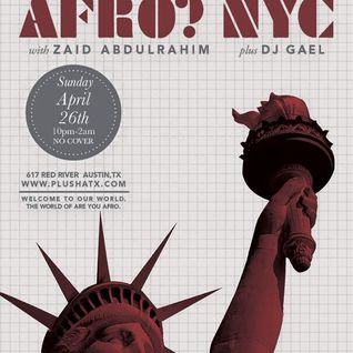Zaid Abdulrahim Soulful Horizons Are you Afro? NYC WMC 2015 Afro Mix