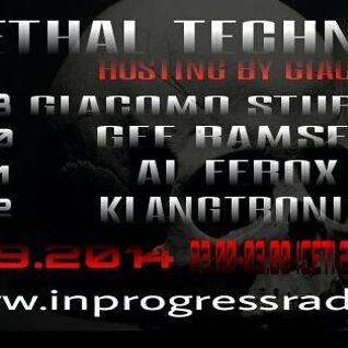 "**Exclusive  1 hour mix by Me..for "" lethal techno show"" hosted by  ..Giacomo sturiano"