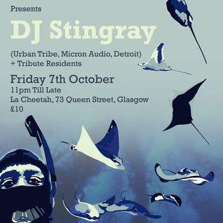 Dj Stingray @ Tribute Launch Night, La Cheetah Club, Glasgow, Scotland 07.10.11