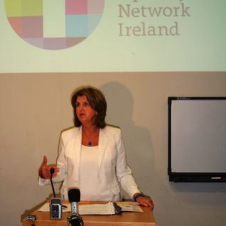 Joan Burton receives mixed reception at Dublin Trans Right's conference.