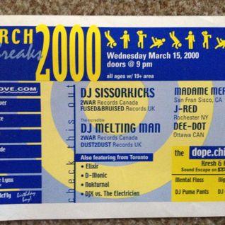 Breaks to the Future #26 ( dJ scissorkicks uk live march 2000)