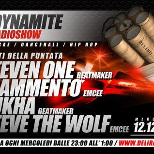 DYNAMITE radio show ospiti   STEVEN ONE - FRAMMENTO - STEVE THE WOLF - SUCHKà   2P WWW.DELIRADIO.IT