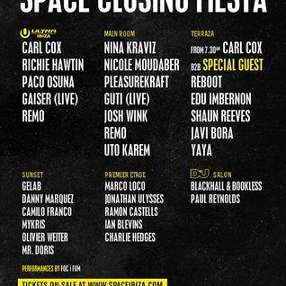 Carl Cox b2b Nic Fanciulli - Live @ Space Closing Fiesta - 06.10.2013