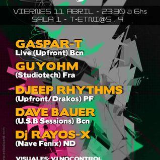 USB Party Sala Instinto Barcelona Djeep Rhythms in live 11 Abril 2014