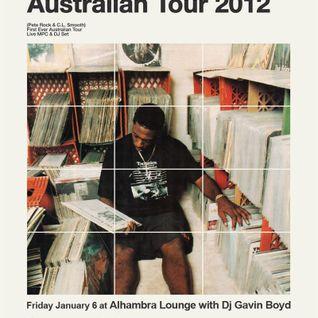 Warm-Up DJ Set for PETE ROCK (Australian Tour 2012)