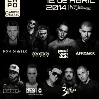 3 Are Legend (Steve Aoki, Dimitri Vegas & Like Mike) - Live @ Empo Awards 2014, Expo Vacomer (Mexico