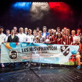 LES MIS V PHANTOM Charity Football 2016