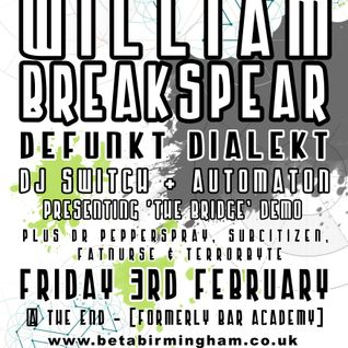 BETAMIX William Breakspear - Beta Birmingham 03/02/12