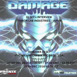 Damage - Terror Lab Industries Dj Set - Radio Schizoid Dec 2015